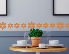 cenefa autoadhesiva floral decoración de paredes y habitaciones infantiles