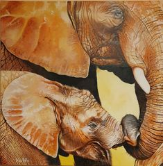 Original Oil painting Fine Art, Elephants, Baby Elephant, Family, African Elephants, Oil painting on stretched canvas, Free delivery by SoulArtAlina on Etsy Great Paintings, Beautiful Paintings, Oil Paintings, Elephant Family, Baby Elephant, African Elephant, Stretched Canvas, Elephants, Free Delivery