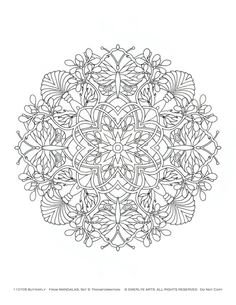 Difficult Level Mandala Coloring Pages | 570px