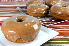 Baked Pumpkin Donuts with Maple-Cinnamon Glaze — Recipe from For the Love of Cooking