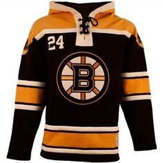 9b38fe74f Old Time Hockey Boston Bruins Lace-Up Jersey Fleece Hoodie