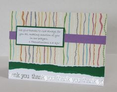 We Give Thanks Handmade Christian Thank You Card With Scripture by stufffromtrees on Etsy
