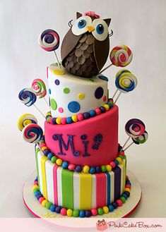 Birthday Topsy Turvy Candy Cake...sooo cute!