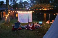 Outdoor garden cinema