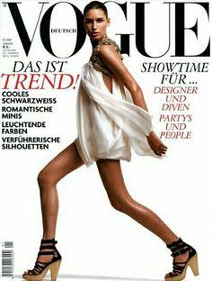 Eugenia Volodina for Vogue Germany January 2007