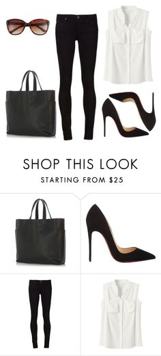 2015/1206 by dimceandovski on Polyvore featuring Christian Louboutin, Warehouse and Vince Camuto