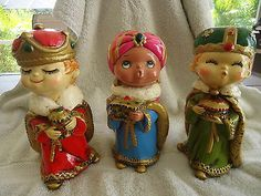 "3-Darling-""KURT ADLER""-Nativity-""THREE WISE MEN"" Figurines"