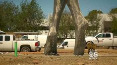 Giant statue of nude woman spurs debate on California tech campus     - CNET  Enlarge Image  The beginning of a 55-foot sculpture of a nude woman takes shape in San Leandro California.                                               CBS San Francisco                                            A new 55-foot (17-meter) statue is taking shape on a brand new Northern California tech campus but some locals are asking whether  the giant nude woman is appropriate public art.     So far only a pair…