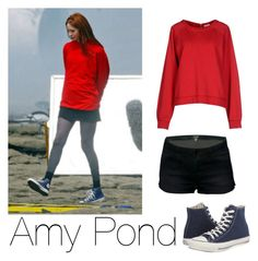 """Amy Pond"" by kmmarkham-1 ❤ liked on Polyvore featuring SUN68, Converse, women's clothing, women's fashion, women, female, woman, misses and juniors"