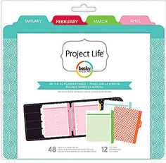 Project Life ON THE GO PLANNER 6x8 FILLER PACK scrapbooking 380399