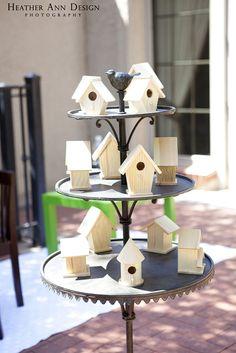 Decorate a birdhouse for owl birthday for favors :-) Bird Birthday Parties, Owl Parties, Baby Girl First Birthday, 2nd Birthday, Birthday Ideas, Teacher Desks, Classroom Teacher, Kindergarten Classroom, Classroom Decor