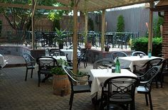 First season 2002 for Avalon's outdoor patio.