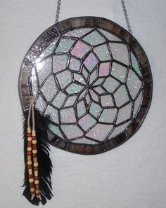 Native American Stained Glass Dream Catcher picture only