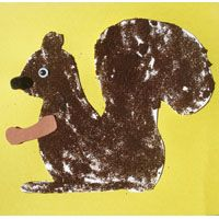 Coffee grounds squirrel -- so perfect for all those caffeine addicted first graders. STUPID!