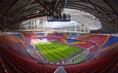 Interior Amsterdam Arena, Amsterdam, Países Bajos. Capacidad 52.960 espectadores, Equipos locales: AFC Ajax y Selección Holandesa de fútbol.