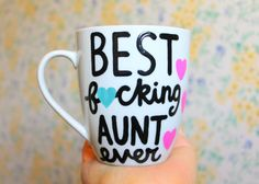 Best f*cking aunt ever coffee cup aunt mug best aunt ever gift for aunt gift for sister long distance pregnancy announcement