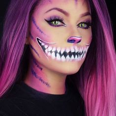 23 cute makeup ideas for Halloween 2018 - Frisurenx.site - 23 cute makeup ideas for Halloween 2018 – Frisurenx. Halloween 2018, Looks Halloween, Halloween Night, Really Scary Halloween Costumes, Beautiful Halloween Makeup, Cat Halloween Makeup, Cute Makeup, Makeup Art, Creepy Makeup