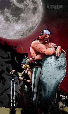 true asterix and obelix BW by 0nesto on DeviantArt