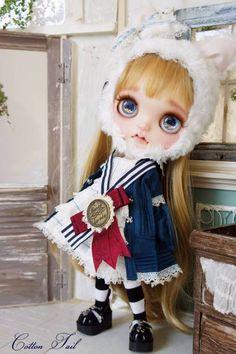 cotton tail, cotton tail custom blythe, rinkya, japan, blythe dolls, collectibles