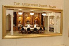 Titanic dining salon in miniature by Conny van den Dungen