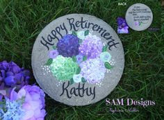Hand painted garden stones and wedding glassware by Wedding Gifts For Bride And Groom, Wedding Gifts For Parents, Bride Gifts, Groom Gifts, Parent Gifts, Teacher Gifts, Nanny Gifts, Nurse Retirement Gifts, Personalized Garden Stones