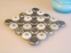 Snow - bottle cap trivet