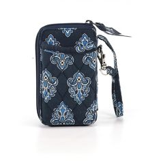 Pre-owned Vera Bradley Wristlet: Navy Blue Women's Bags ($22) ❤ liked on Polyvore featuring bags, handbags, clutches, navy blue, navy blue handbags, blue purse, blue clutches, wristlet clutches and vera bradley wristlet