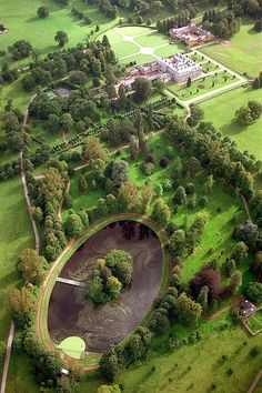 Althorp Estate in England - Childhood home and burial site of Princess Diana - she is buried on the Round Oval Island.