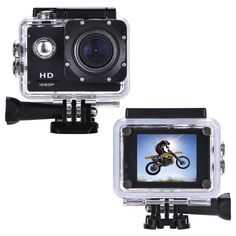 Pacuwi 1080P HD Sports Action Camera, 12MP 2 Inch LCD, 170 Degree Wide Angle, 30M Waterproof Outdoor DVR with Rechargeable Battery and Mounting Adapter Kits ** Read more reviews of the product by visiting the link on the image.