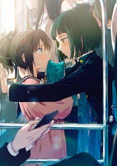 Ghibli Chihiro x Haku Fanart ~. Studio Ghibli Films, Art Studio Ghibli, Studio Ghibli Characters, Spirited Away Haku, Chihiro Y Haku, Fanart, Moe Anime, Yuri Anime, Film D'animation