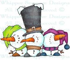 Mini-Me's Friends - Snowmen Images - Snowmen - Rubber Stamps - Shop