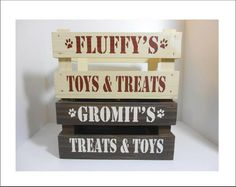personalised pet treat and toy crate by rose cottage | notonthehighstreet.com  cos the puppies need spoiling too!