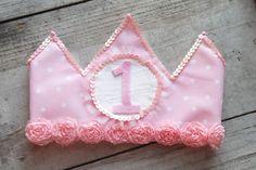 Pink Polka Dot Birthday Crown wi by LittleMissBettyLou on Etsy, $28.00