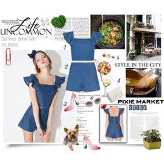 #pixiemarket Summer Style with Pixie-Market! by minojka on Polyvore featuring Miista, Crap, LSA International, Dot & Bo, Dinner, summerstyle, summerfashion, pixiemarket and summer2015
