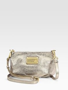 marc by marc jacobs, classic q metallic leather percy shoulder purse