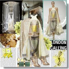 """London calling (London Fashion Week highlights:Mary katrantzou Spring-Summer 2013)"" by vassiliki-g on Polyvore Mary Katrantzou, London Calling, Sari, Spring Summer, London Fashion, Polyvore, Highlights, Shopping, Collection"