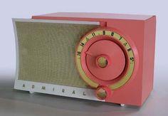 Pink Vintage Admiral Radio