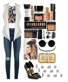 """""""#summerdaylook"""" by ellinorfashionlover ❤ liked on Polyvore featuring Topshop, Express, Tom Ford, Smashbox, Charlotte Russe, Forever 21, NARS Cosmetics, Estée Lauder, Illamasqua and Frame Denim"""