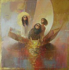 Fishermen by Oleksandr Antonyuk. Religious Paintings, Religious Art, Jesus Christus, Deep Art, Spirited Art, Jesus Art, Biblical Art, Catholic Art, Sacred Art