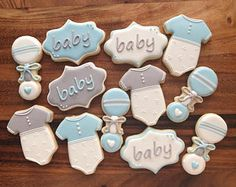 Baby Onesie Sugar Cookies 12