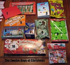 This is such a fun gift idea. Twelve days of Christmas stories with little treats that go along with each story. They are ready to print. You just have to buy the treats!