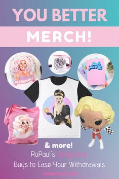 What you need is Drag Race merch! I've hunted down some of the best drag race merch in the RuNiverse, including Drag Race trophy figures. Let's go shopping! Alaska Drag Queen, Drag Racing Quotes, Races Outfit, The Vivienne, Rupaul, Go Shopping, Letting Go, Tote Bags, Kicks