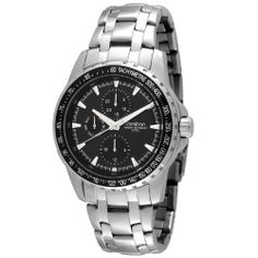 Armitron Men's 204696BKSV Stainless Steel Multi-Function Black Dial Dress Watch Armitron. $56.24. Sweep second hand. Water-resistant to 165 feet (50 M). Black textured dial with day and date and 24 hour subdials; Printed tachymeter on aluminium ring accent. Adjustable bracelet with one touch two button fold over clasp with safety. Silver-tone luminous index markers; Silver-tone luminous hour hands. Save 25%!