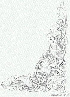 元の画像を表示 Leather Carving, Leather Art, Leather Design, Leather Tooling, Wood Carving, Quilting Designs, Embroidery Designs, Molduras Vintage, Motifs Art Nouveau