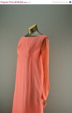 SALE 60s chiffon gown Vintage maxi dress 1960s Lorrie Deb dress
