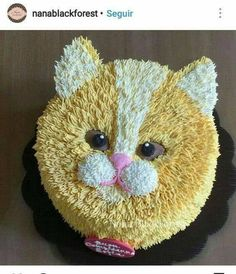 Birthday Cake Cat Peanut Butter 22 Ideas For 2019 Baby Cakes, Cupcake Cakes, Cake Decorating Techniques, Cake Decorating Tips, Pretty Cakes, Cute Cakes, Kitten Cake, Birthday Cake For Cat, Birthday Cakes