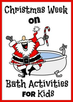 Growing A Jeweled Rose: Rudolph Christmas Bath  I know what we're doing between now and Christmas for bath time!