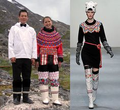 Peter Jensen takes large doses of inspiration from Greenlandic folk costumes to create his range of clothing, including modernising the traditional Mukluk/Kamik boots.