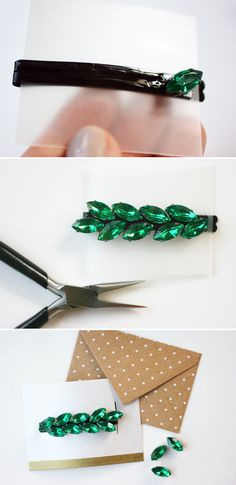 DIY Hair Accessories - Easy Rhinestone-Studded