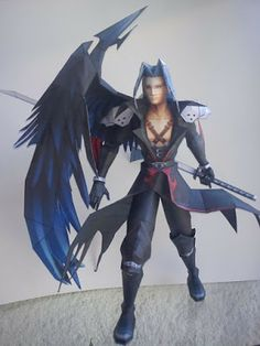 Tektonten Papercraft - Free Papercraft, Paper Models and Paper Toys: Kingdom Hearts Sephiroth Papercraft